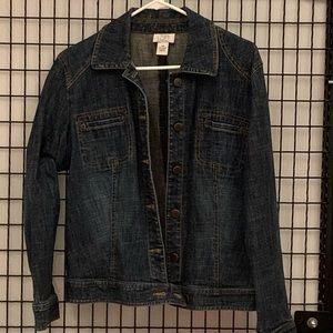 LOFT dark denim jacket
